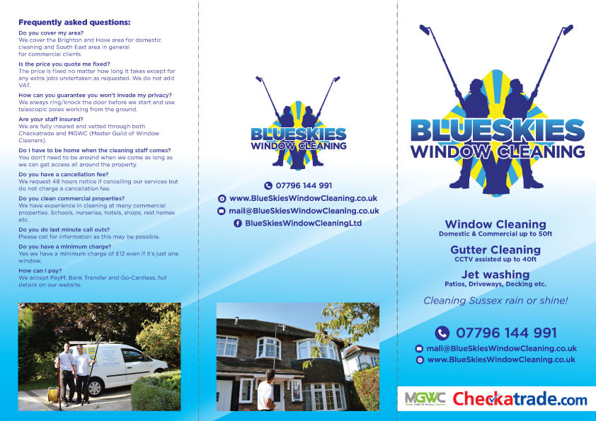 Blue Skies Leaflet