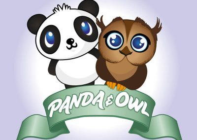 Panda and Owl logo by AboveMedia